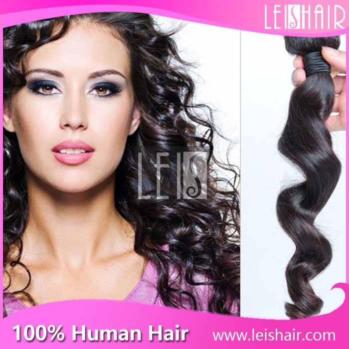 Wholesale 7A virgin Brazilian loose wave hair extensions