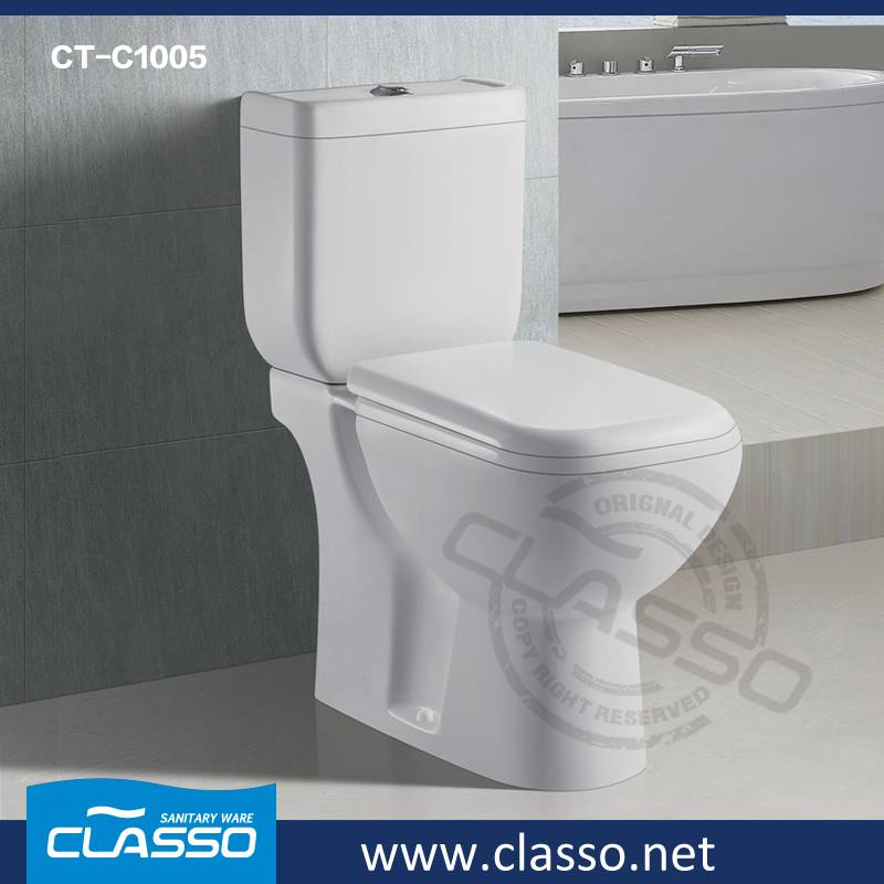 New Design Bathroom Ceramic Sanitary Ware washdown toilet new design 4-inch CLASSO two piece closet