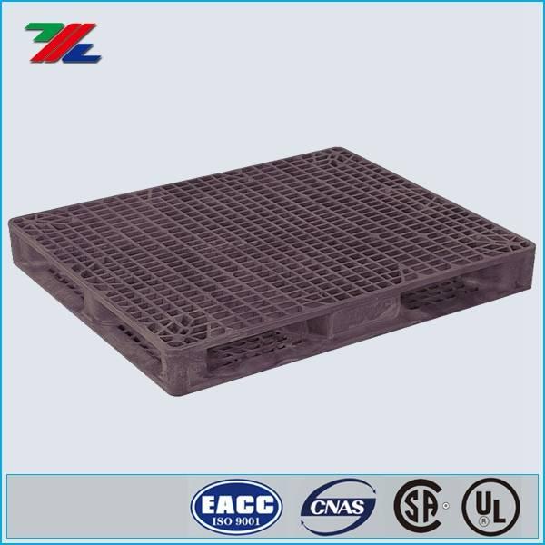 4,000 lb., 48 In. L, 40 In. W, Black Plastic Block Pallet