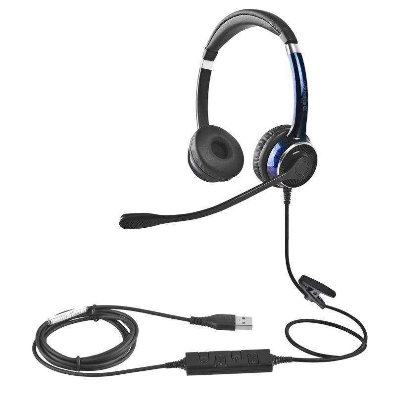 China Beien FC22 USB telephone headset for call center business