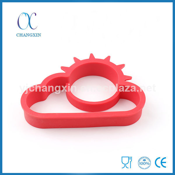 Best Selling Egg Frying Ring New Design Sunny Cloud Shape Silicone Egg Fryer