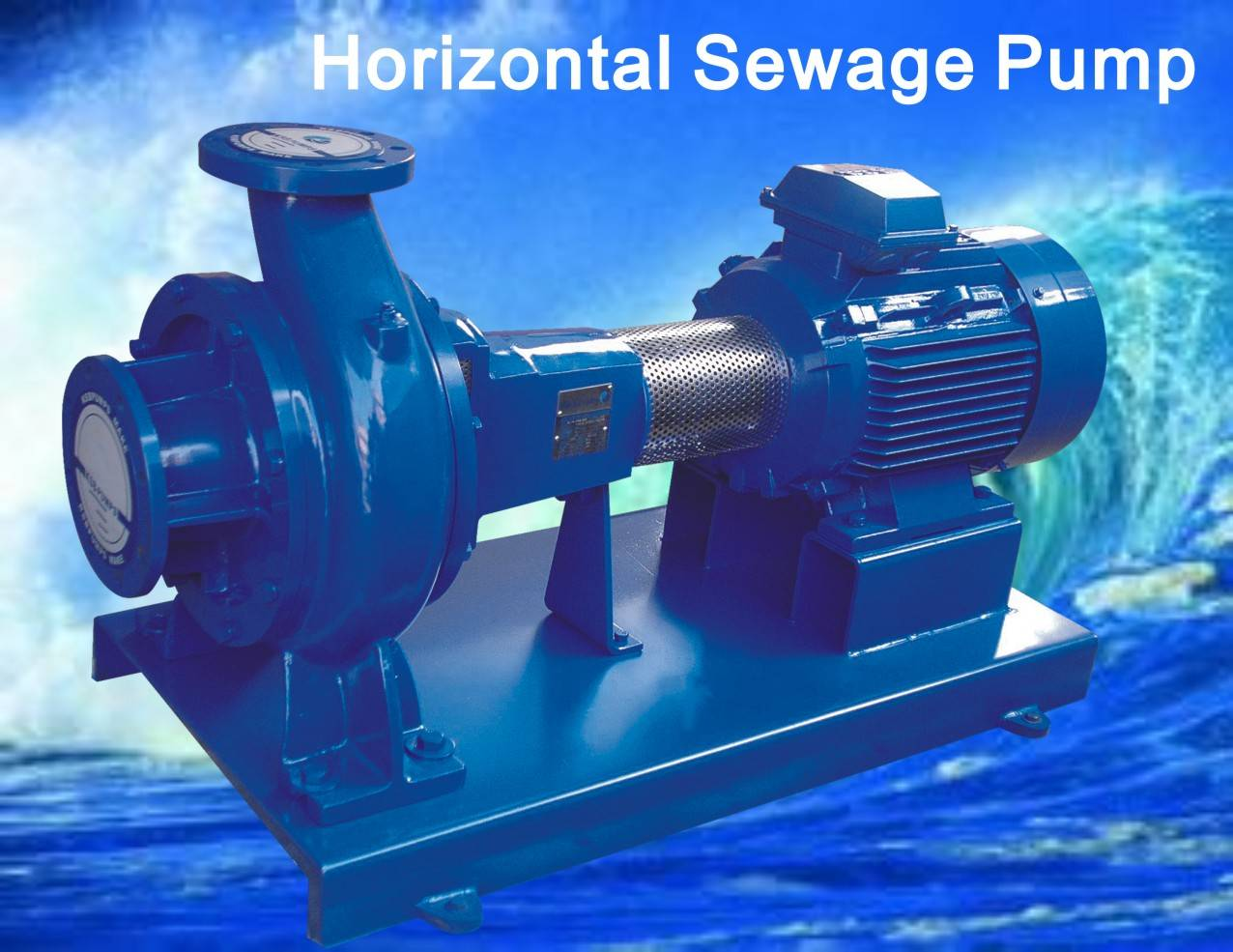 Horizontal end suction sewage pump