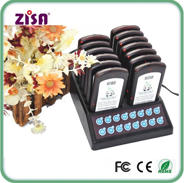 ZISA Restaurant Wireless Waiter Self-service Slim Coaster Pager System