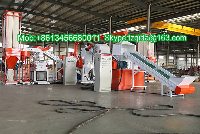 High output cable recycling plant