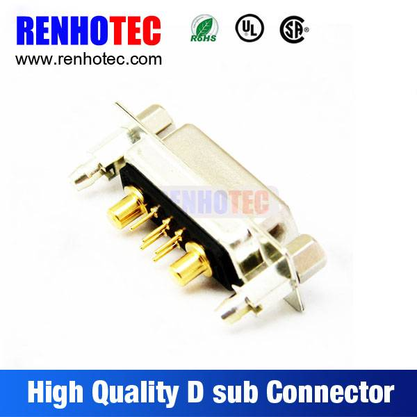 high currency 7W2 pin d-sub connector