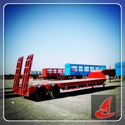 3 axle,36TON Lowbed semi-trailer for sale