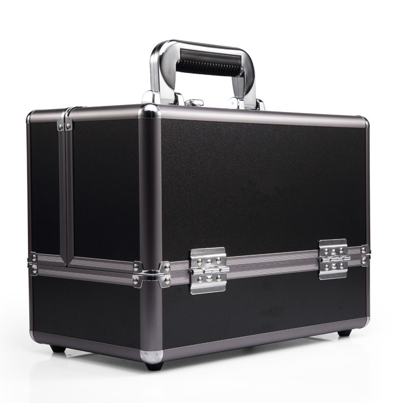 Aluminum Jewelry Travel Case Cosmetics Makeup Train Mini Case/Portable Small Makeup Case Aluminum Ma