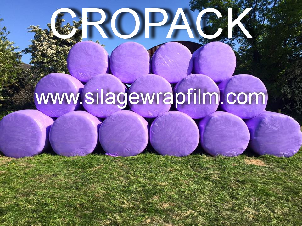 silage wrap -CROPACK 750 -purple or pink color