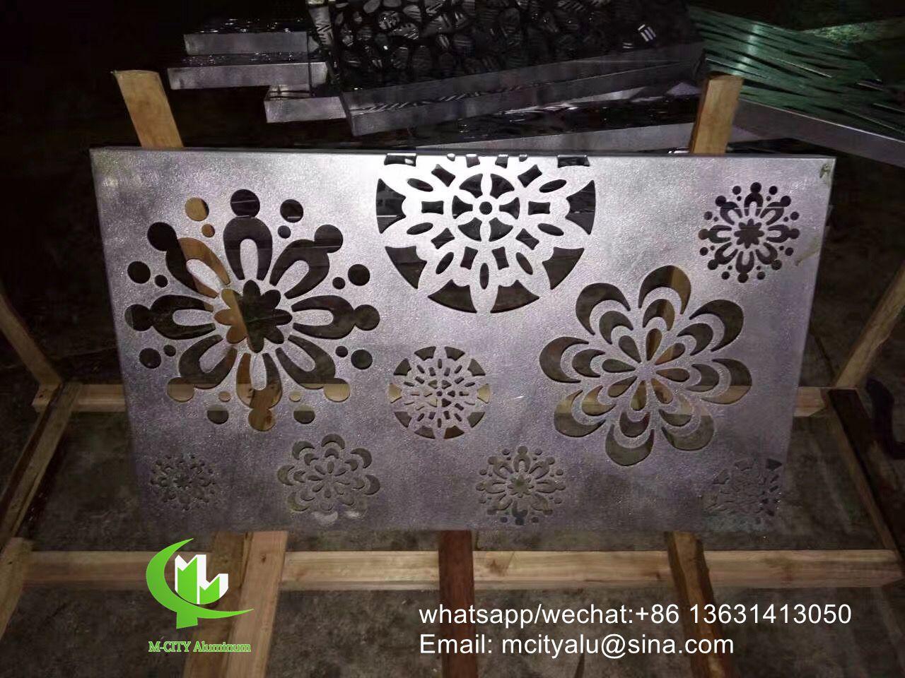 Metal aluminum perforated screen panel