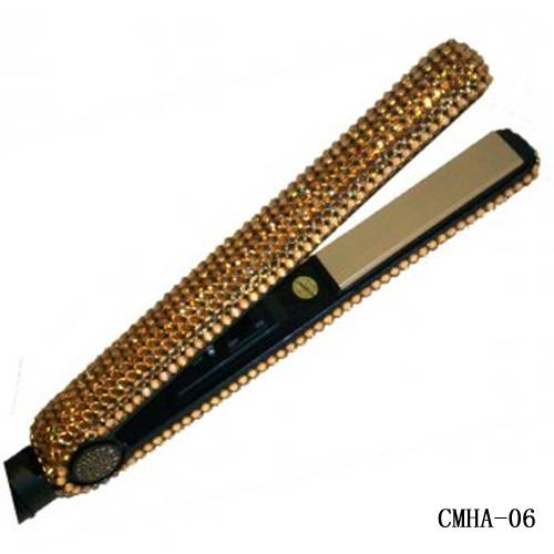 Topaz Swarovski Crystal Hair Flat Iron-Hair beauty