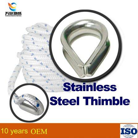 Stainless steel electrical wire thimble