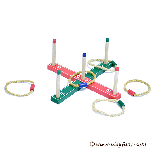 Wooden Quoites,Wooden Ring Toss Game