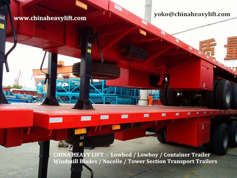CHINA HEAVY LIFT - 3 axle Flatbed Container Trailer - CHINA