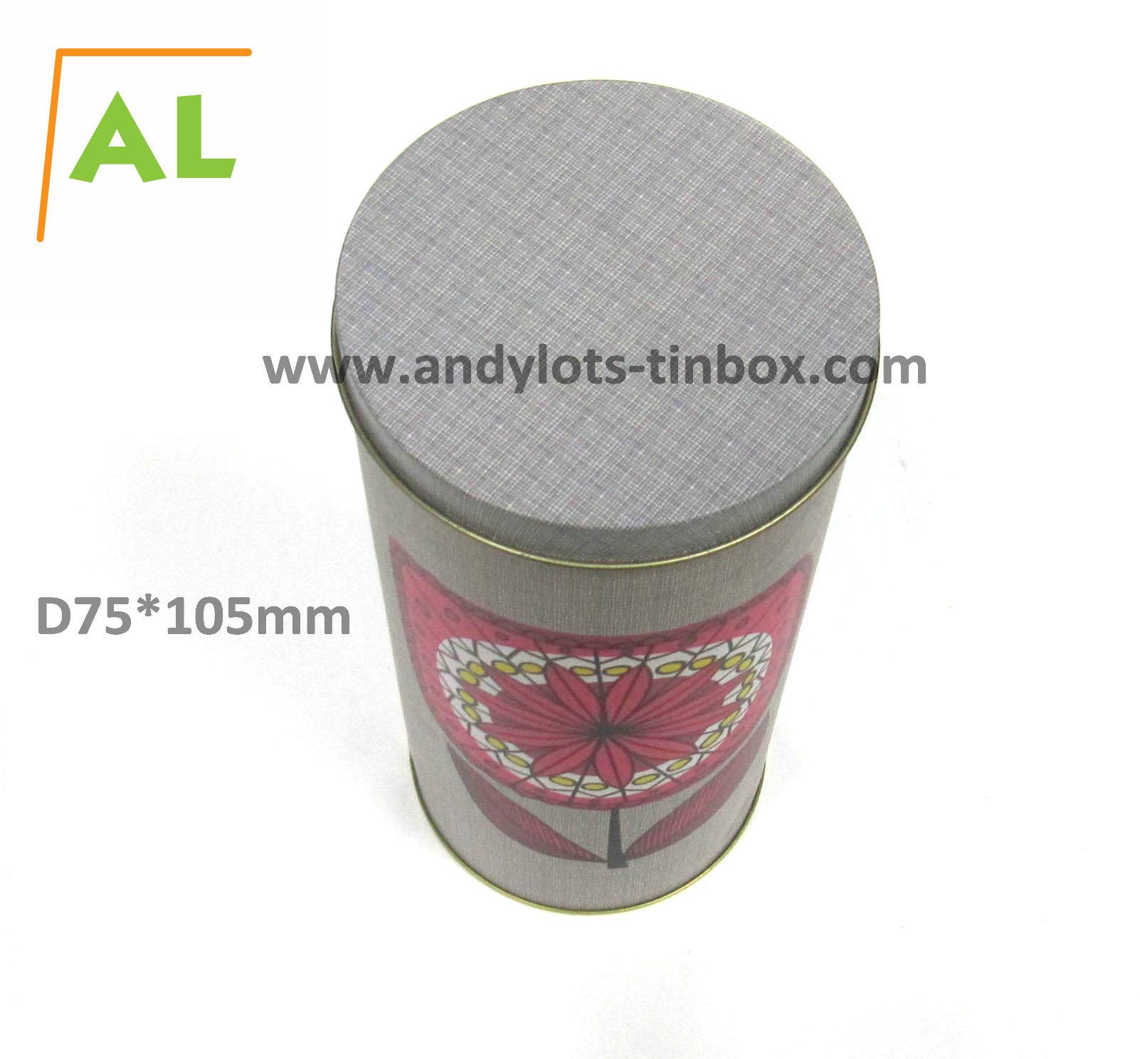 Food grade round vintage tin box packaging
