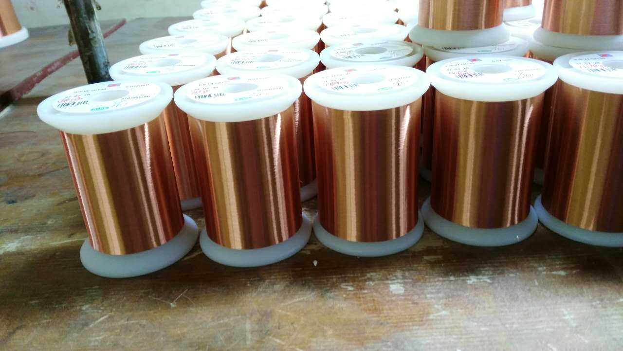Enamelled round copper wire