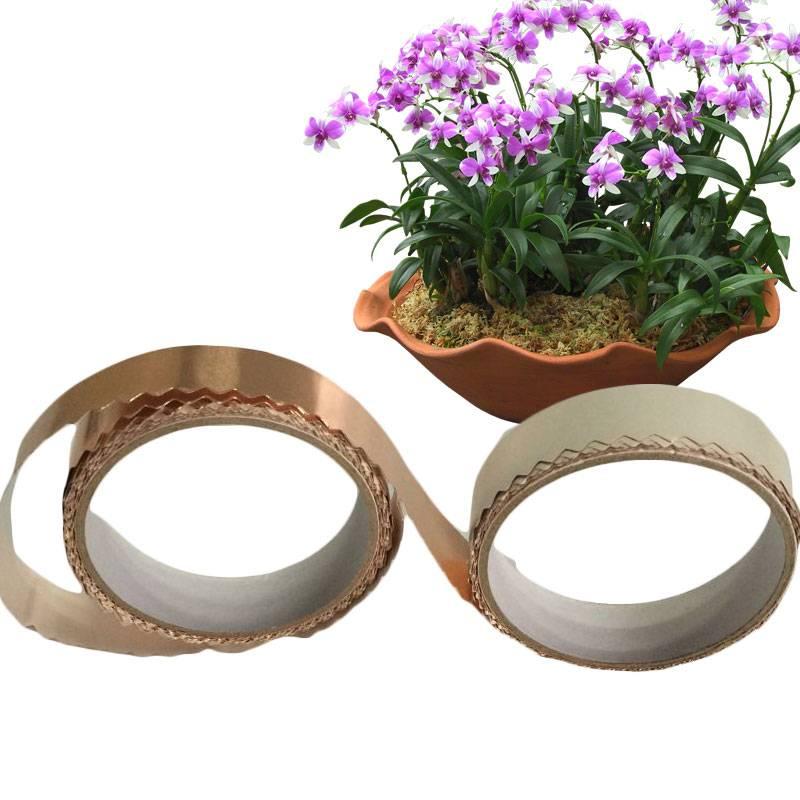 Yuanjinghe Serration Copper Tape Organic Slug Repellent plants-20M