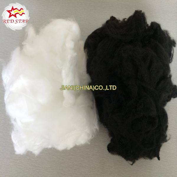 White and Black polyester staple fiber/recycled PSF/regenerated HCS/HC