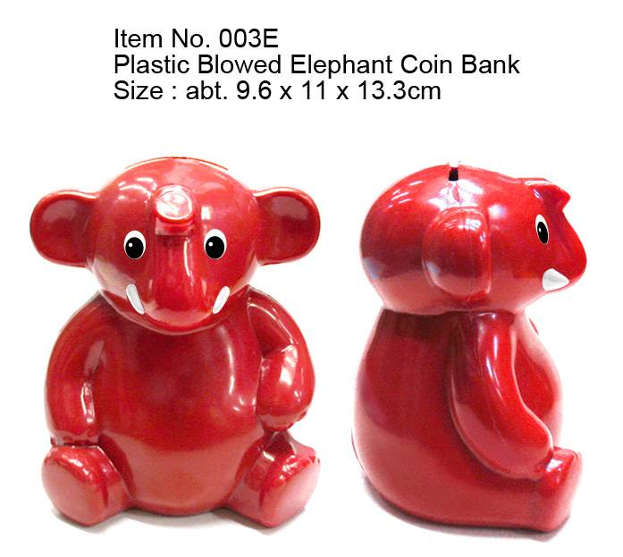 Plastic Blowed Elephant Coin Bank