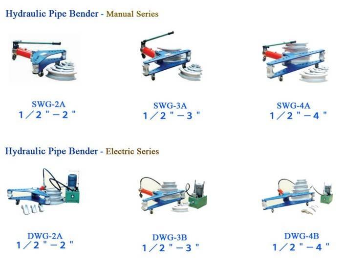 Manual 3'' pipe bending machine SWG-3A