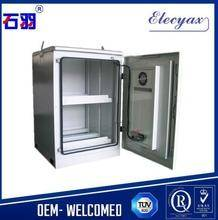 equipment rack outdoor cabinet/W650*D650mm/customized galvanized metal enclosure with light and lock