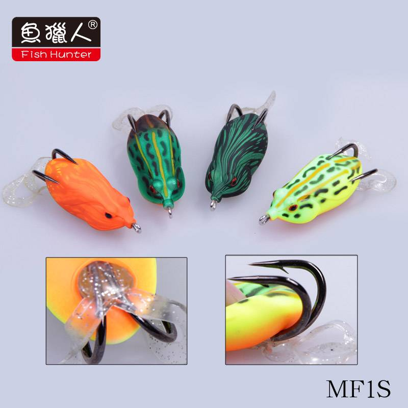 60mm/ 16g/fish hunter/ frog/ top water/ hard fishing lure/wide double hook