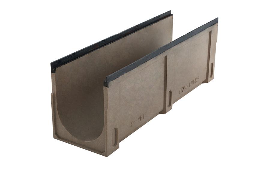 China factory YETE precast u A15 - F900 polymer concrete trench drains