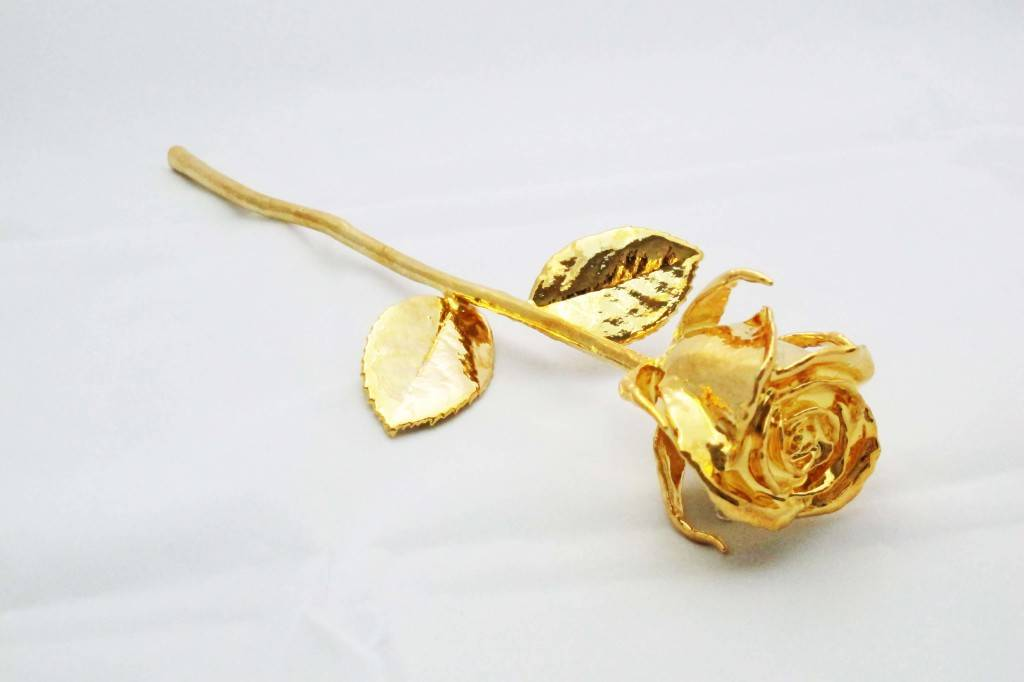 Handmade factory OEM wholesale 24K gold dipped plated real Rose stem,mother,chirstmas,valentines,day