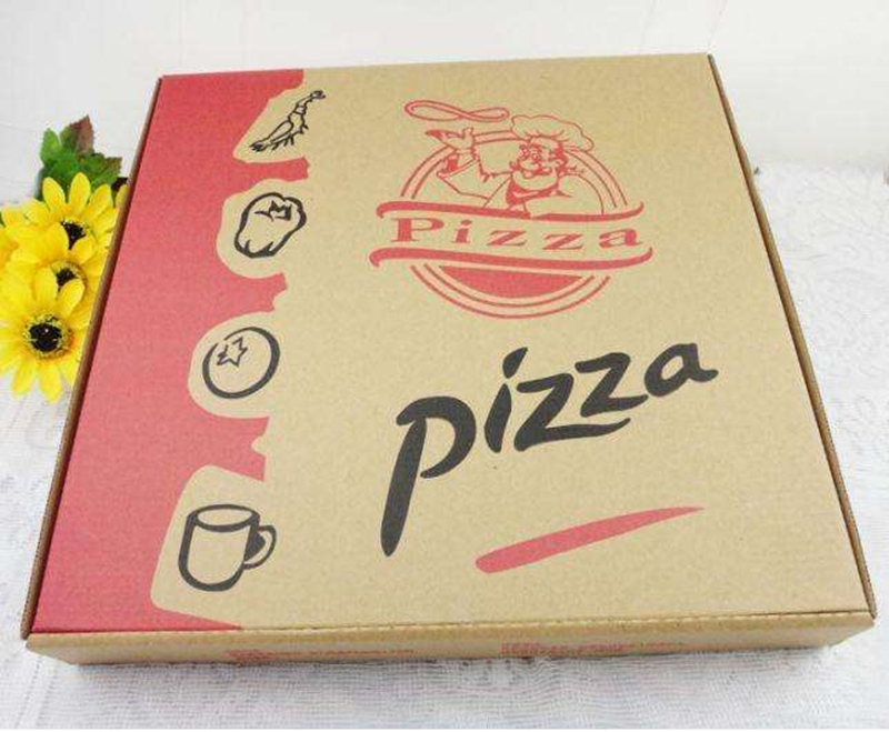 Disposable custom printed paper pizza packaging