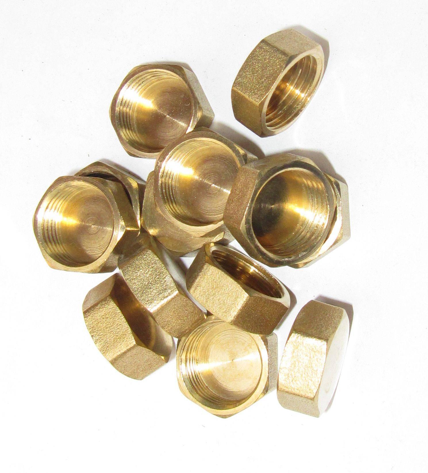 Brass Hex Female Cap