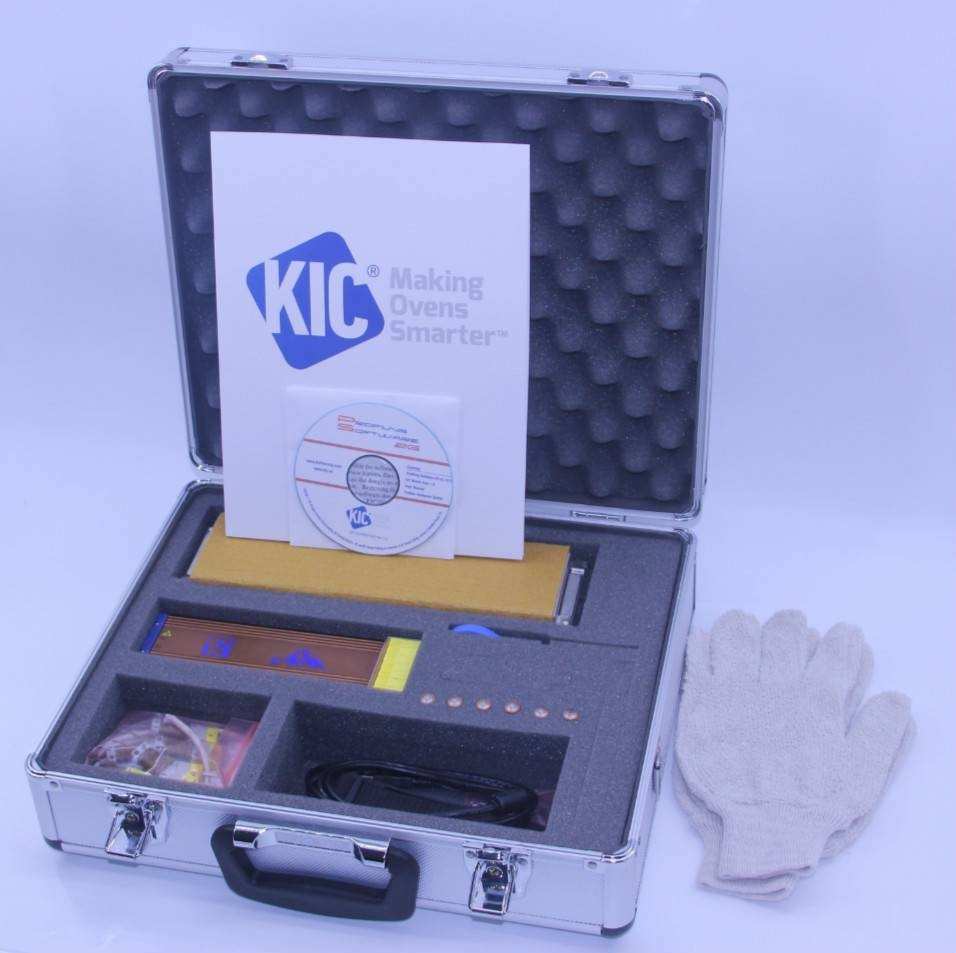 KIC K2 thermal profiler ,smt reflow temperature test thermal profilling