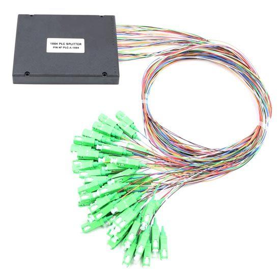 1X64 PLC splitter ABS type with 2.0mm fiber