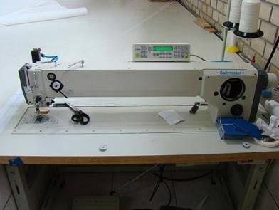 Heavy duty Long Arm 3 step Zigzag sewing machine