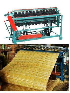 Bamboo mat making weaving laminating machine manufacturing line plant