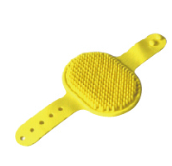2017 Yangzhou Yellow Plastic Pet Bath Brush Wholesale