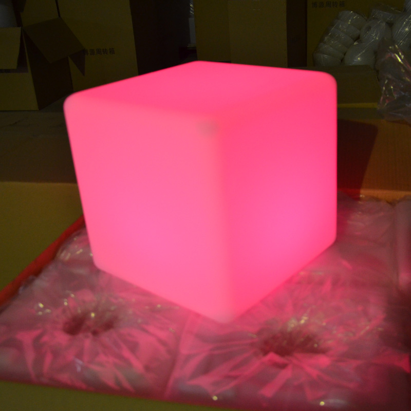 20cm Color Changing Outdoor Bar Stool Led Cube Light