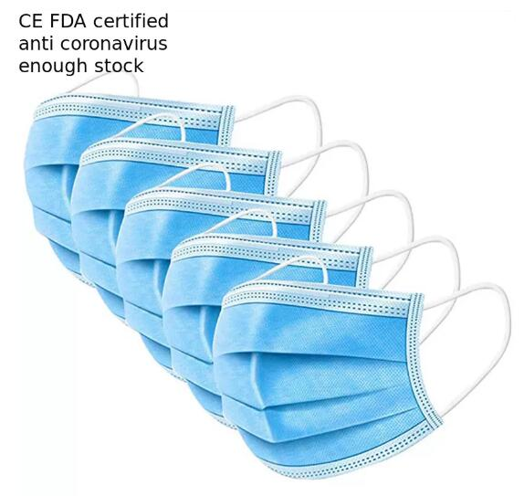 Disposable Pollution Mask , 3 Ply Face Mask For Personal Care