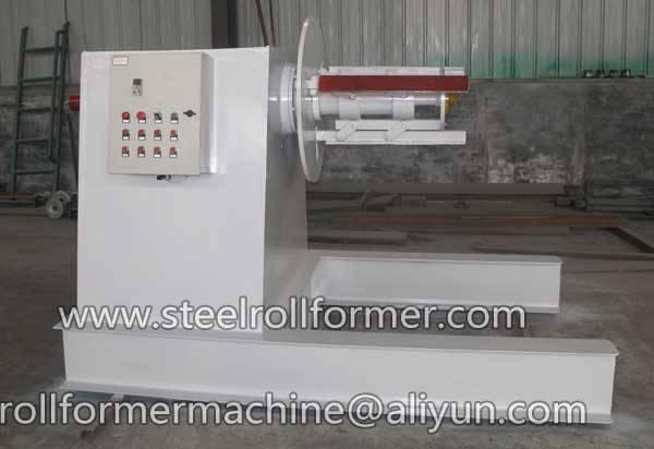hydraulic sheet decoiler
