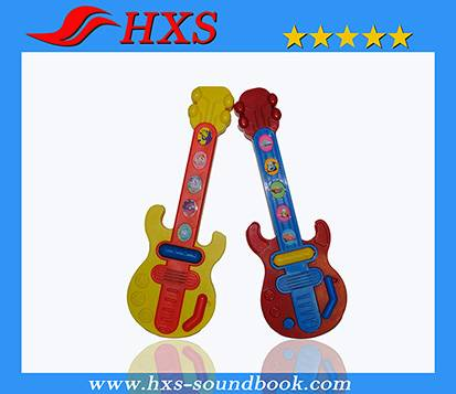 Customized Outlook Cartoon Printing Plastic Guitar Learning Machine