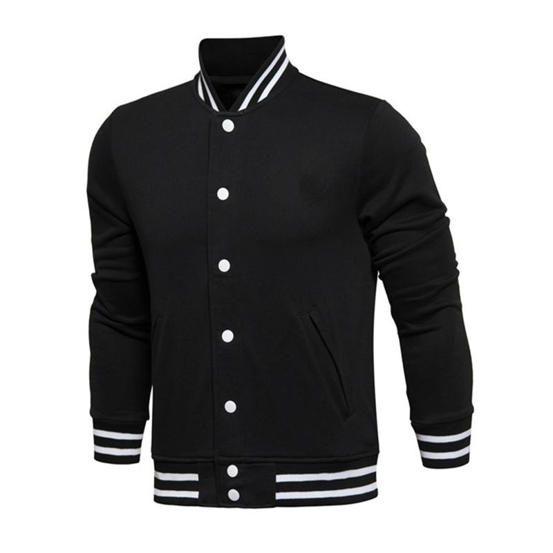 Hot Custom New HIgh Quality Cotton Color block Men Blank Varsity Baseball Track Bomber Jacket
