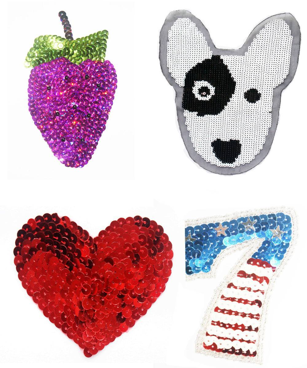 Sequins cartoon appliques