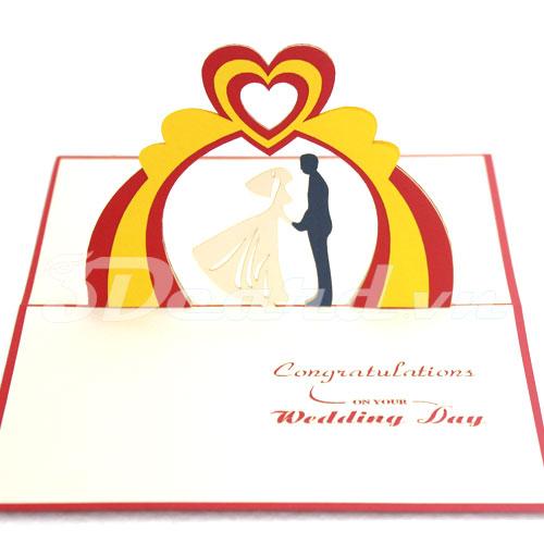 Wedding 5-Kirigami-Origamic-Laser cut-Paper cutting-Pop up-3d-Handmade card-Wedding invitation