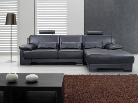Sectionals leather sofa h858