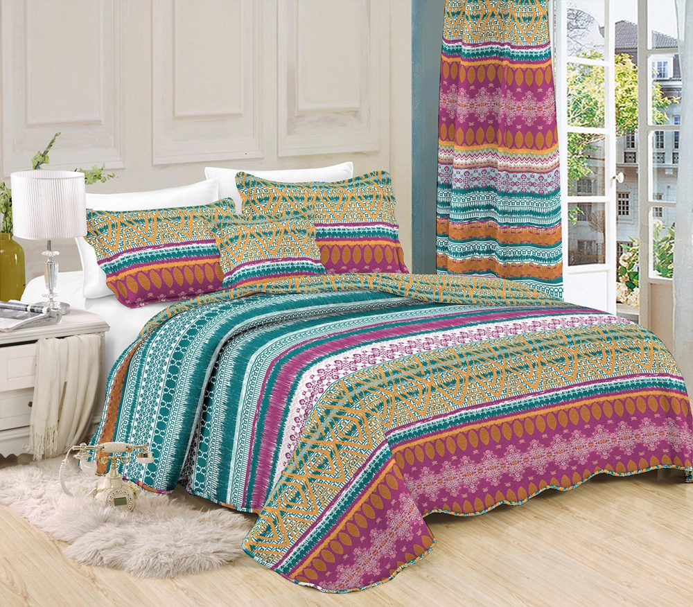 HJ-1-(4168) printed quilt with border