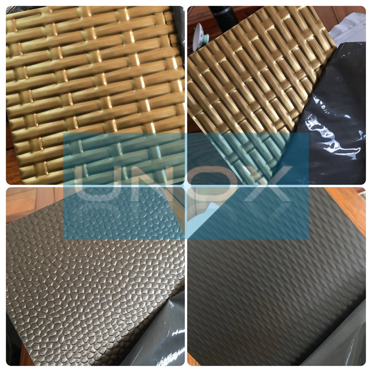 3D 5AWL Embossed Stainless Steel Sheets Plate