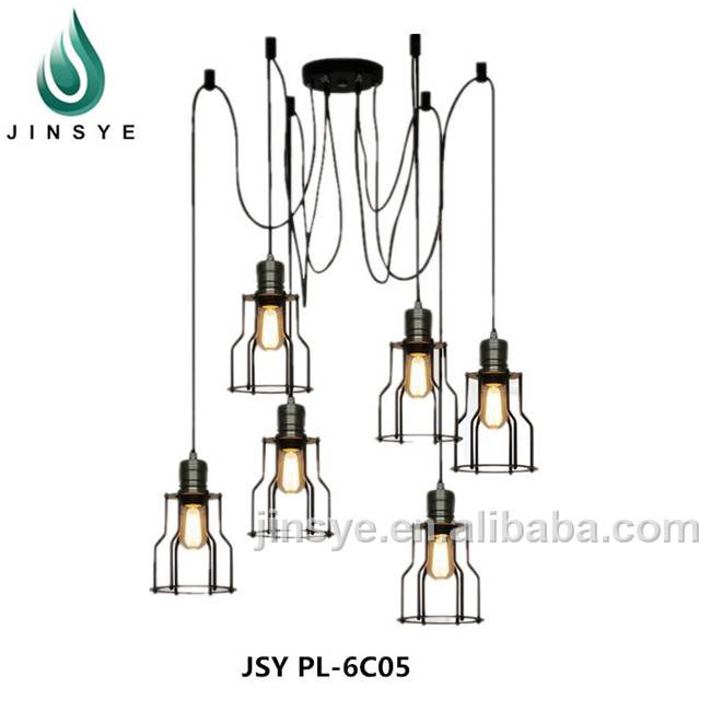 Modern pendant ceiling lamp 5pcs 6nos cage light