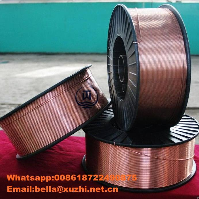 China supplier self-shielded AWS 5.18 mig wire 0.8/0.9/1.0/1.2 ER70S-6 welding wire