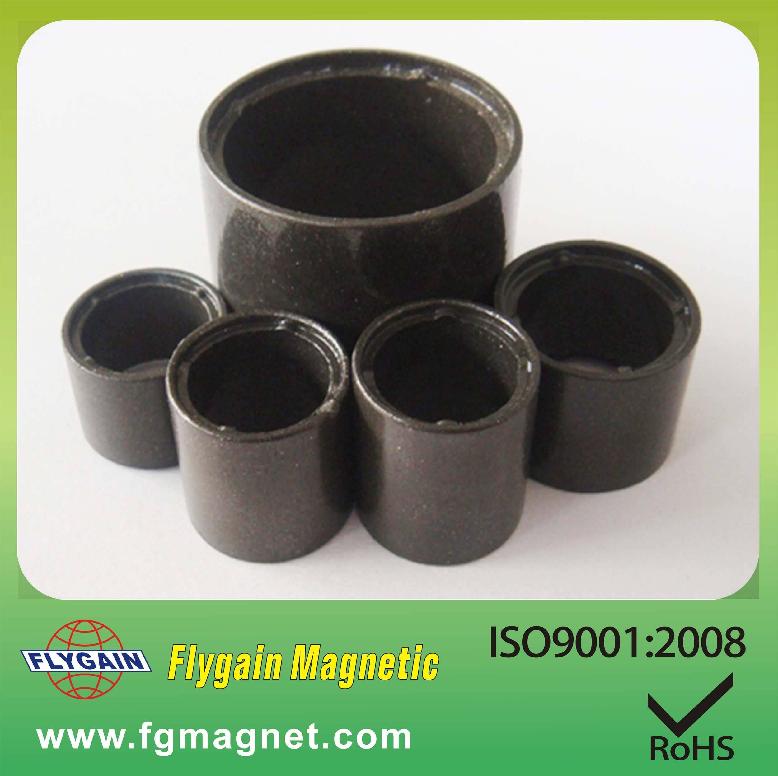 Black barium injection ferrite magnet