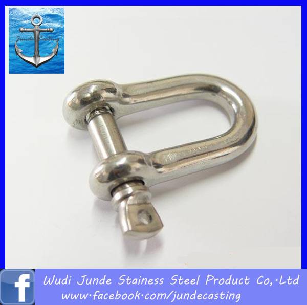 stainless steel 304/316 d shackle