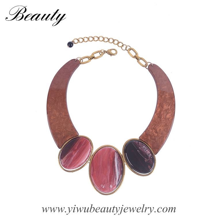 2016 Red Fashionable Acrylic  Necklace,Chunky Necklace