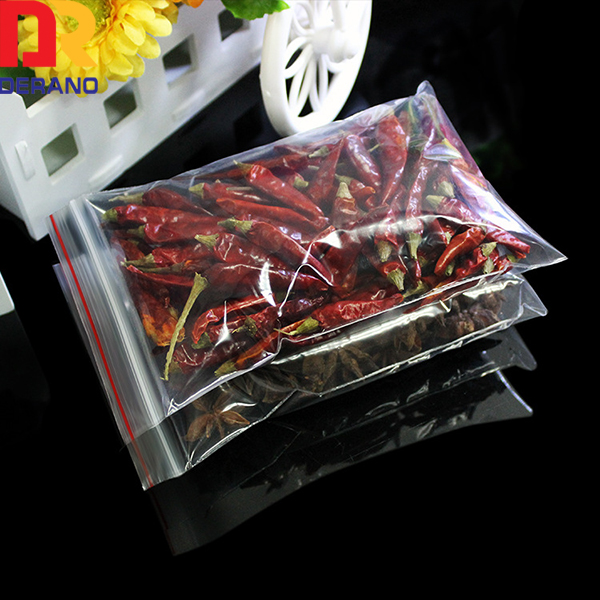 custom waterproof plastic zipper bag for food